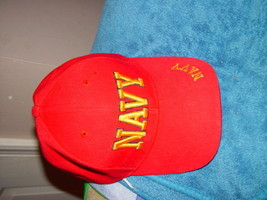 Red Navy Baseball Hat One Size Fit Most - $17.00