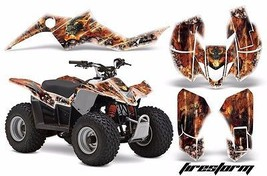 AMR Racing Suzuki LTZ 50 Quad Graphics Kit ATV Sticker Decals 06-09 FIRE... - $129.95