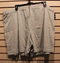 New Womens Plus Size 4 X Gray Grey Jersey Stretch Elastic Waist 100%Cotton Shorts - $8.79