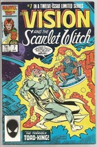 VISION & SCARLET WITCH #7 Marvel Comics 1986 HIGH GRADE  Prince Namor - $20.00