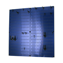 Kitchen Pegboard And Organization Kit With Blue Pegboard And Black Acces... - $85.11