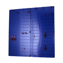 Kitchen Pegboard And Organization Kit With Blue Pegboard And Red Accesso... - $80.70
