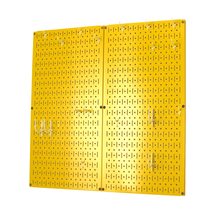 Kitchen Pegboard And Organization Kit With Yellow Pegboard And White Acc... - $85.11