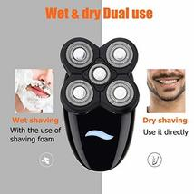 Men's Electric Razors Shaver for Bald Head,Rechargeable 5-in-1 Rotary Shavers Gr image 6