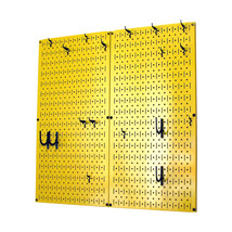 Kitchen Pegboard And Organization Kit With Yellow Pegboard And Black Acc... - $85.11