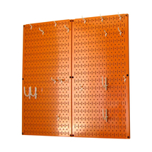 Kitchen Pegboard And Organization Kit With Orange Pegboard And White Acc... - $85.11
