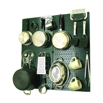 Kitchen Pegboard And Organization Kit With Green Pegboard And White Acce... - $90.11