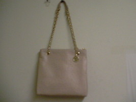 DKNY donna karan shoulder handbag ostrich leather sand purse - $188.05