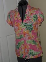 Caribbean Joe Knit Top Shirt Size S Pink Floral Print Msrp:$34.00  Nwt - $16.98