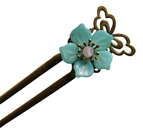 Lake Green Floret Hairpin Hair Jewelry Hair Styling Retro Palace Headdres