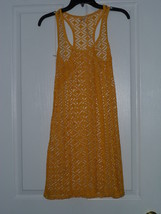 Cristina Love Net Mesh Cover Up Top Size M Junior Yellow Nwt - $18.99