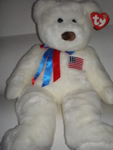 """NWMT Rare TY Libearty Bear Beanie Buddy Large 22"""" Retired Pristine Patri... - $32.36"""