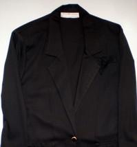 NWT Maggie Lawrence Ladies Small Black Long Sleeve Blazer Fashion Bug Be... - $23.01