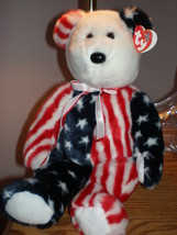 Patriotic Spangles New MWMT TY Beanie Buddy Bear Collectors Quality - $9.46