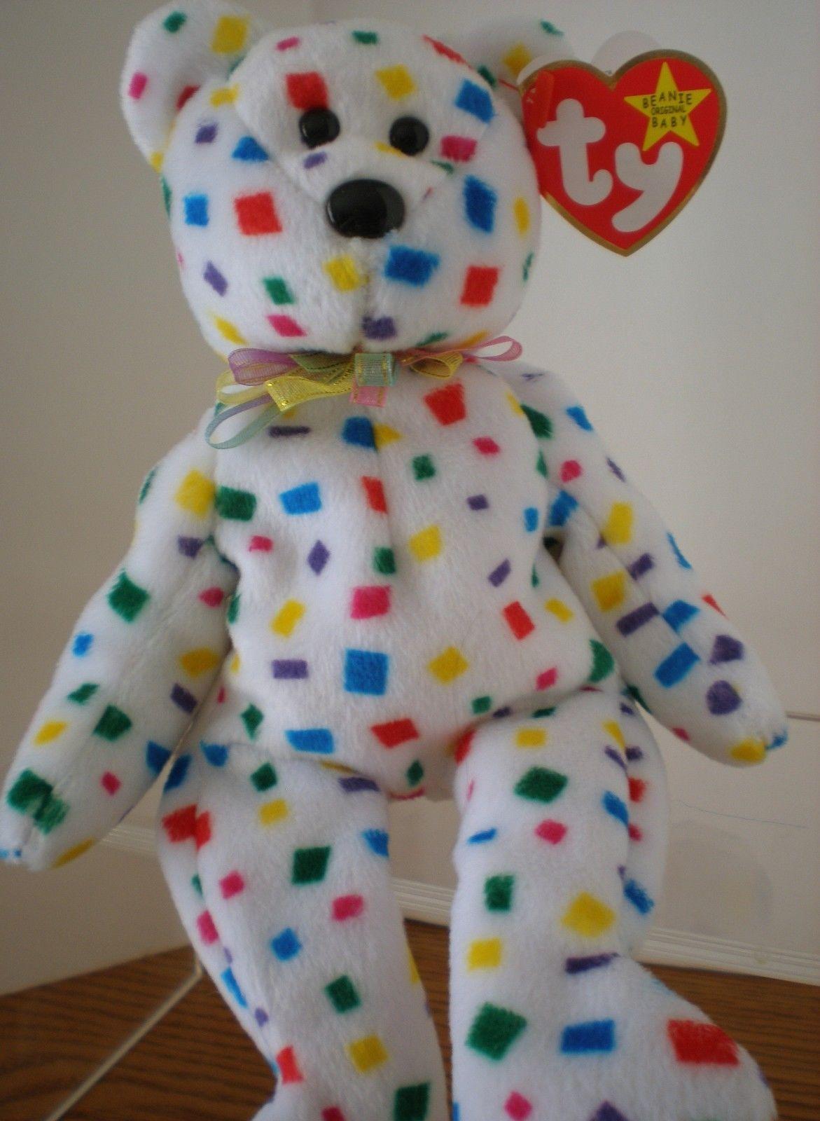 TY 2K Confetti Bear ORIGINAL TY Beanie Baby PLUSH Stuffed w TAG   3 ERRORS!  2000 f8a5f8364369