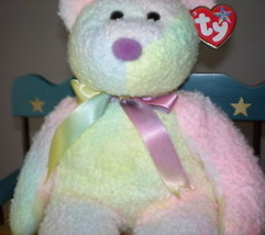 MWMT Groovy Rare TY Beanie Buddy Bear Pastel Colors  Great for Easter - $9.46