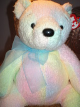 Ty Beanie BUDDY Mellow Ty Dyed Bear RARE MWNT Beautiful Pastel Colors New - $9.46