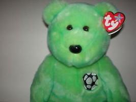 TY Beanie Buddy Kicks Green Soccer Bear New MWMT Collectors Quality Reti... - $9.46