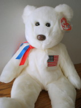 MWMT Rare TY Beanie Buddy Libearty Bear Retired New Pristine Collectors ... - $9.46