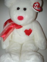 MWMT Rare TY Beanie Buddy Valentino Heart Bear Retired New For Valintine... - $9.46
