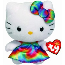 Ty Beanie Buddy Hello Kitty Rainbow Sanrio Collectible Quality New Very Large 12 - $12.95