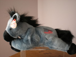 MWMT TY Lefty Patriot Donkey Buddy Retired with Flag Collectors Quality - $9.46
