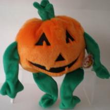 Pumpkin MWMT Rare TY Beanie Buddy Pumkin Halloween New Mint - $9.46