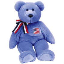 Blue America New MWMT TY Beanie Buddy Bear Collectors Quality - $9.46