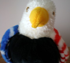 MWMT Rare TY Soar Eagle Beanie Buddy Patriotic Red White Blue Retired New - $13.96