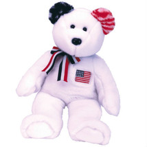 White America New MWMT TY Beanie Buddy Bear Collectors Quality - $9.99