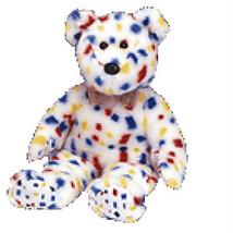 T2K New MWMT TY Beanie Buddy Confetti Bear Collectors Quality - $9.46