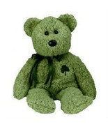 NWMT Ty Shamrock Irish St Patricks Beanie Baby with Lucky Clover - £3.92 GBP