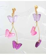 Avon Acrylic Butterfly Clip Earrings - $12.82