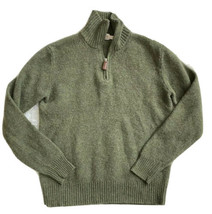J crew Crewcuts lambswool 1/2 zip Sweater Boys 8 wool olive green - $18.80