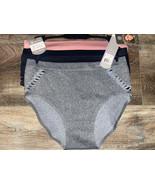 Daisy Fuentes ~ Women's Bonded Hem Briefs Underwear Panties 3-Pair (C) ~ 2X - $18.70