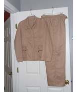 KENNETH TOO PANTS & JACKET OUTFIT SIZE L LADIES TAN NWT - $29.99