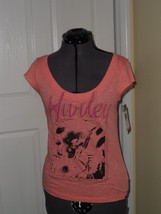 HURLEY KNIT TOP SHIRT SIZE XS  PEACH MSRP:$27.00 NWT - $15.99