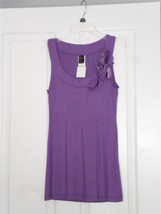 JUNIOR WRAPPER DRESS SIZE LARGE PURPLE NWT  - $15.99