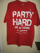 MENS TEE SHIRT SIZE LG  RED  JARZEES    PARTY - $15.77 CAD