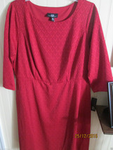 AGB  LADIES SIZE 14W TEXTURED  DRESS RED  NWT - $21.99