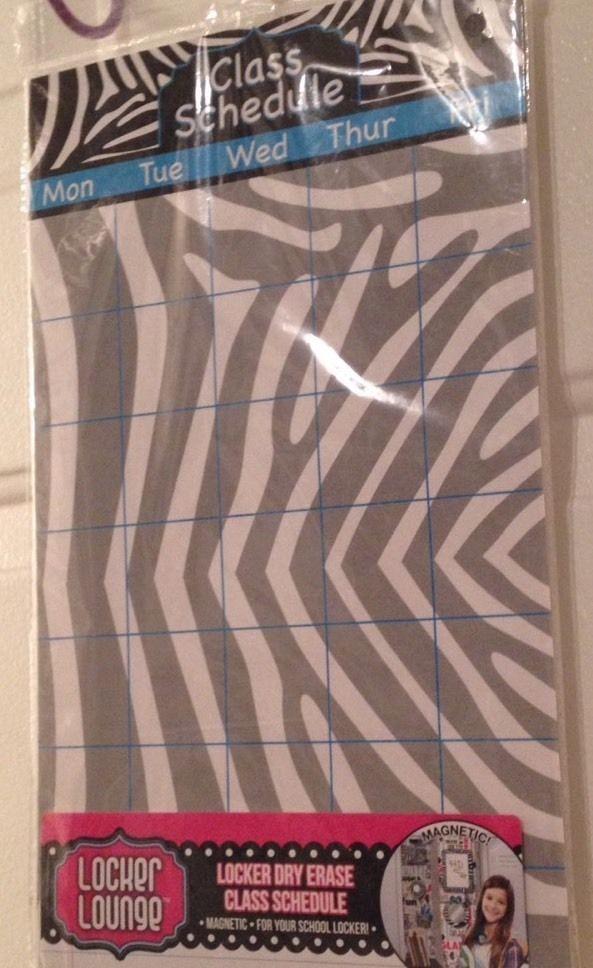 "Zebra Print Magnetic Locker Dry Erase Class Schedule 13"" X 8"" - $6.99"