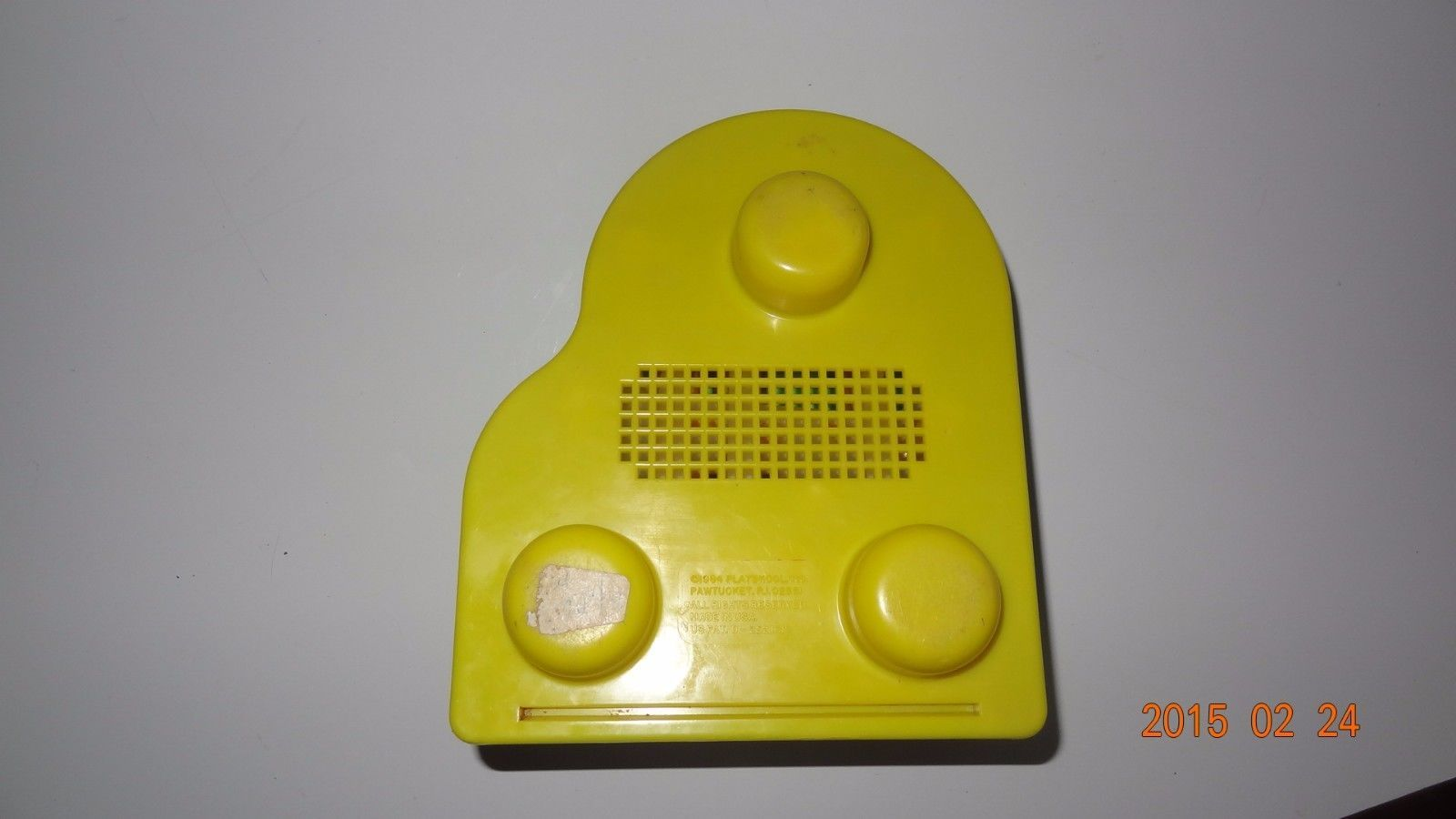 Lot of Two vintage baby toys, piano by Playskool and train spinner