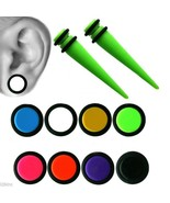 Fake Magnetic Ear Tapers Stretchers 0G or 00G Look White, Black,Pink Acr... - $7.99