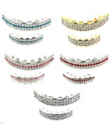 Best Grillz Gold Silver Plated 3 Row Iced Out Top & Bottom Teeth Grillz ... - $18.50