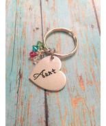 Aunt Hand Stamped Custom-Personalized-Keychain-Mom-Nana-Dad-Sister-Mawmaw Friend - $15.00