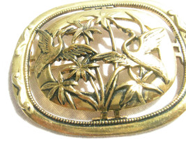 Gold Color Old Bird Brooch Made Before 1929 - $12.86