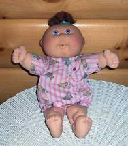 Cabbage Patch Kid Hasbro '93 Cries So Real Onesie Brown Curls Baby - $9.99