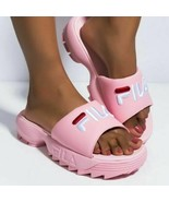 Fila Disruptor 8 Bold Women's Chunky Slides Shoes Pink-White-Red 5SM0007... - $43.42