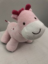 Carters Child Of Mine Musical Pink Giraffe Flower Wind Up Plush - $29.69