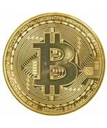 1 Gold Plated Bitcoin Coin Collectible Gift BTC Coin Art Collection Phys... - $4.99